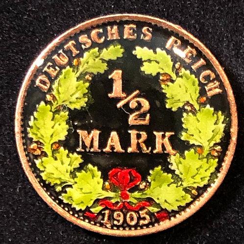 GERMANY - 1/2 DEUTCHE MARK 1905