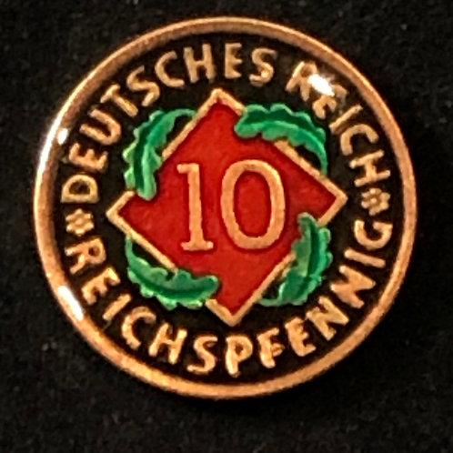 GERMANY - 10 PFENNIGS (OLD)