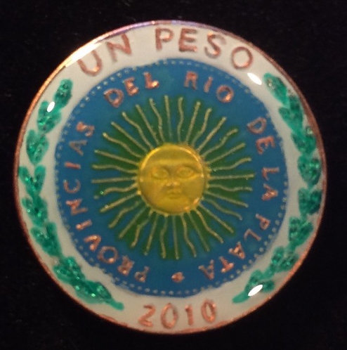 ARGENTINA - ONE PESO WHITE RIM