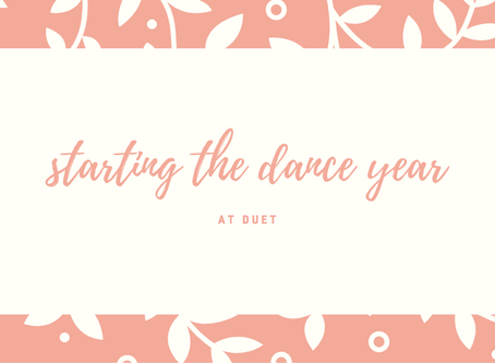 starting the dance year