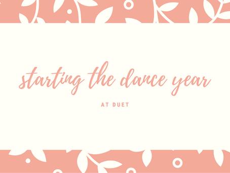 starting the dance year