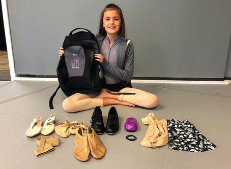 What's in a company dancer's bag?