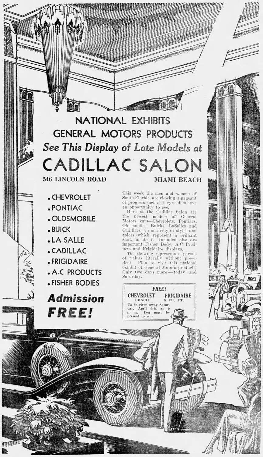 An ad from the Miami News on April 8, 1932.