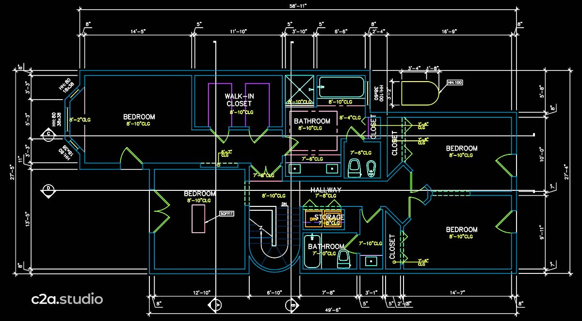 Autocad as-built floor plan drafting service