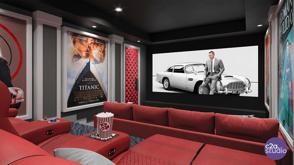 Home Theater with Cineak Seats