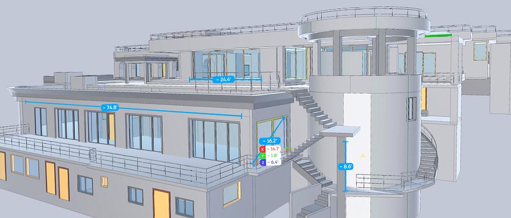 BIM measurements of Caribbean residence