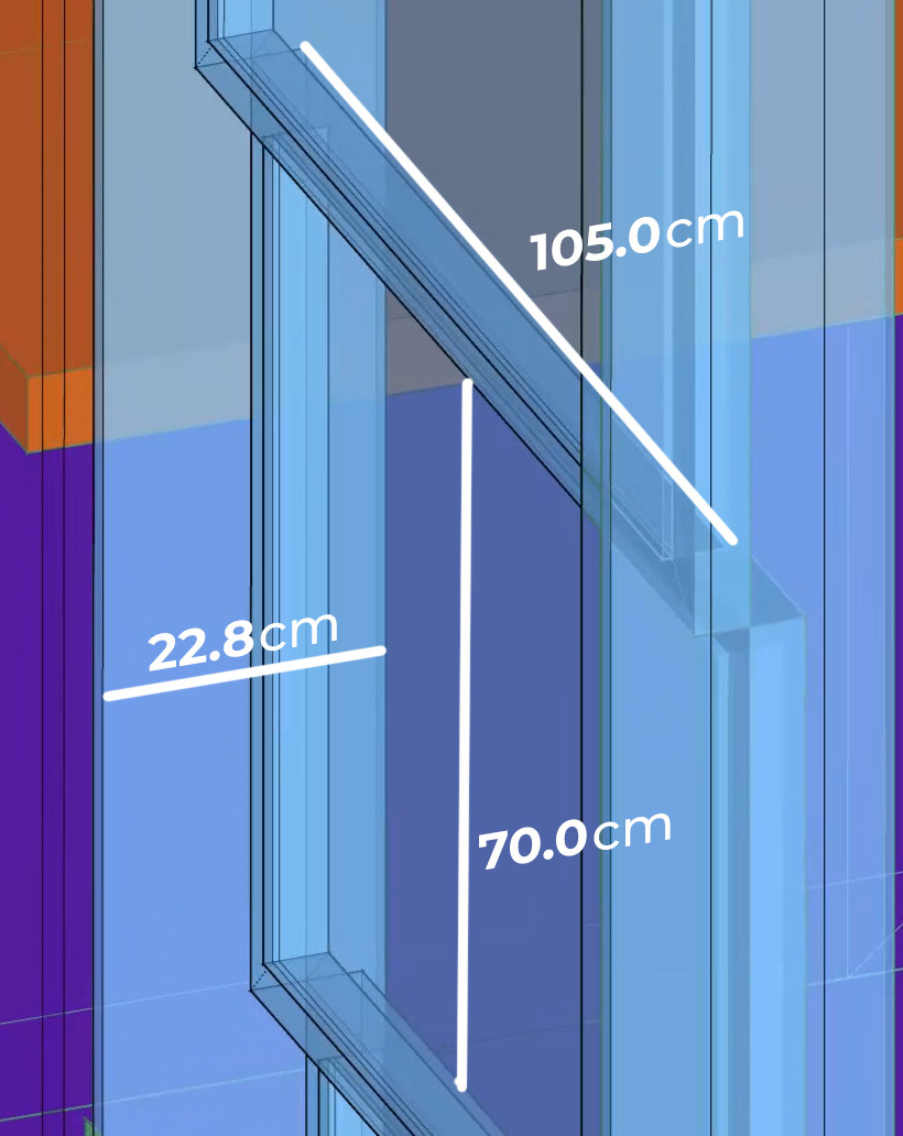 3d model used to measure windows.