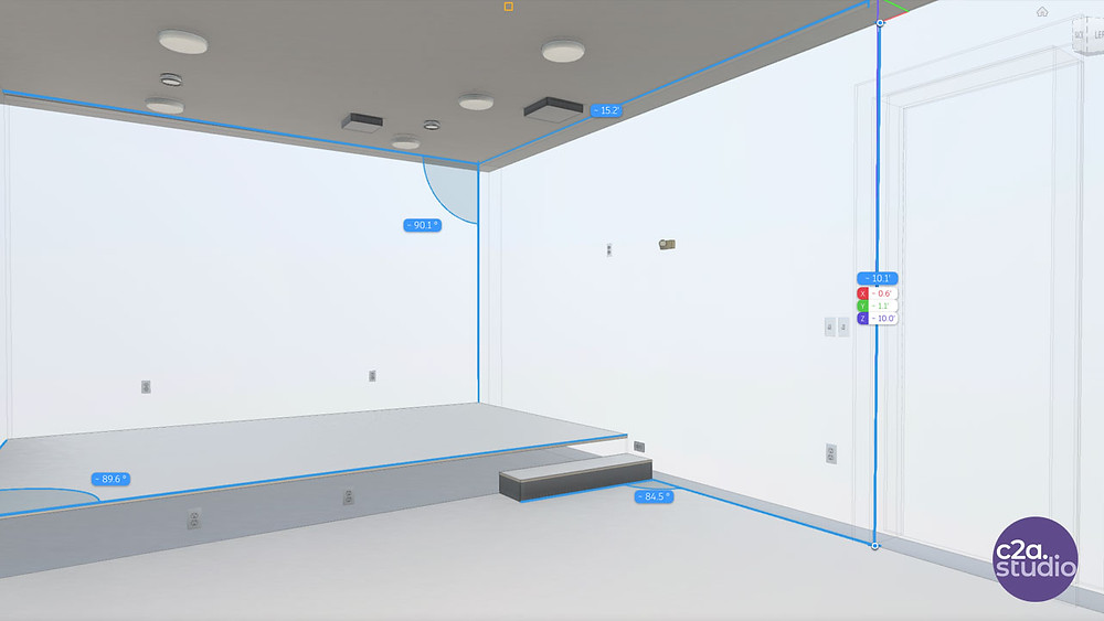 BIM 3d Model of Home Theater