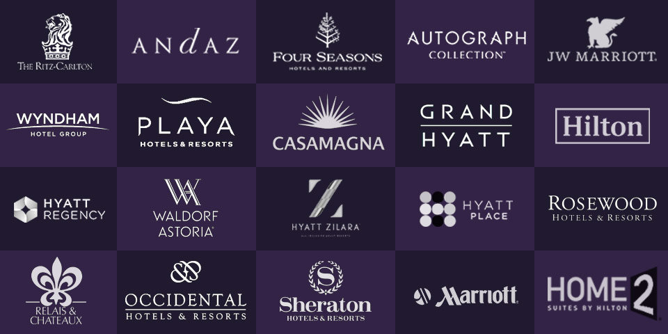 Photographer c2a.studio captures Hyatt, Marriott, Ritz-Carlton, Four Seasons, Sheraton, Waldorf, Wyndam, Hilton, Occidental, Playa ad Relais & Chateaux