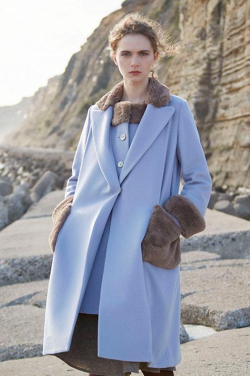 Dual fur coat