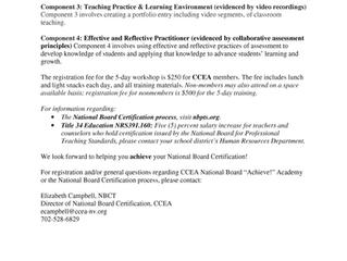 "CCEA National Board ""Achieve!"" Academy"