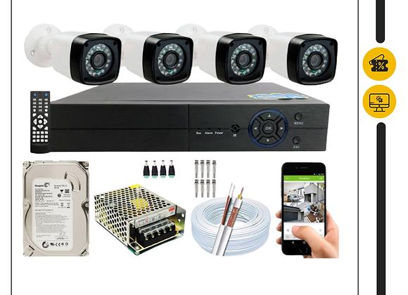 Kit CFTV 4 + Instalação