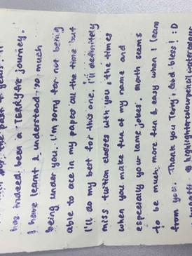 Gratitude Card Teliti Tuition Centre 1