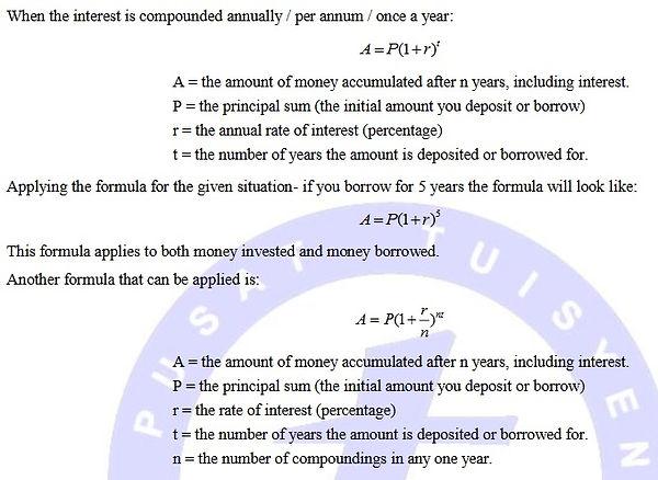 compound interest spm add maths project