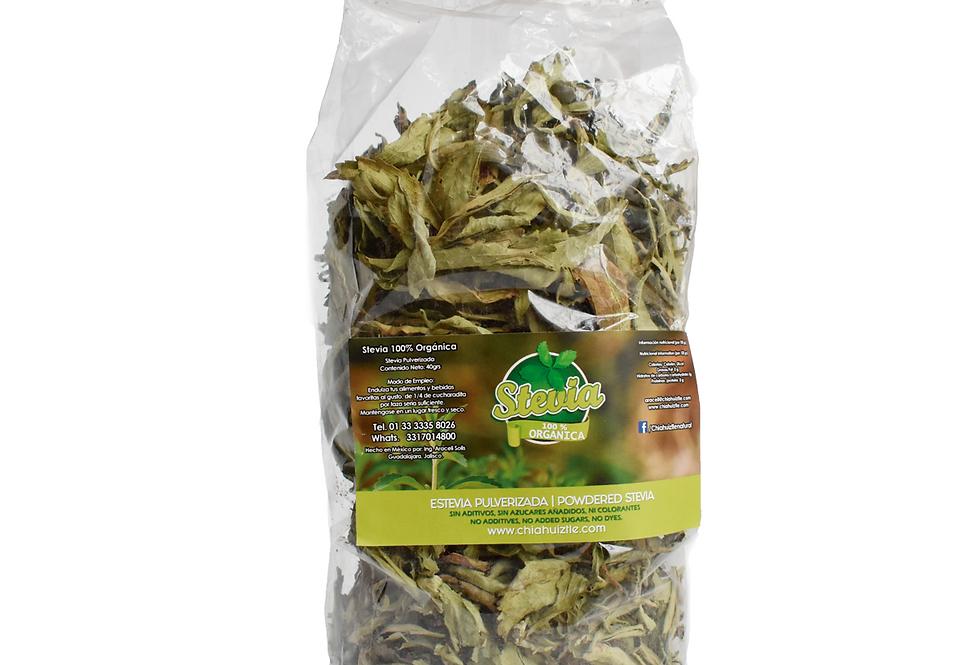 Stevia Natural en Hoja 105g  equivalen a 16 kilos de azúcar