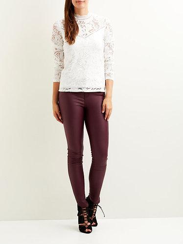 Vila Coated Jeans -wine