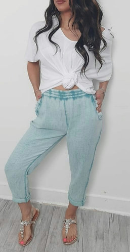 Cheesecloth trousers - Choice of colours