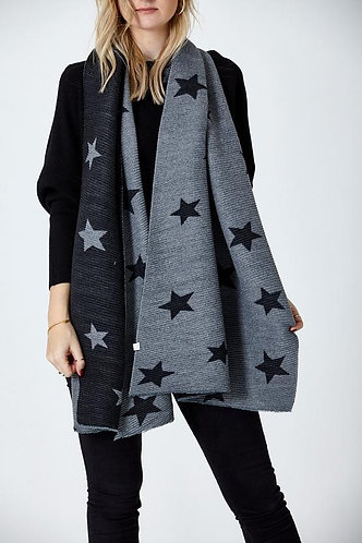 Ribbed star scarf - Choice of colours