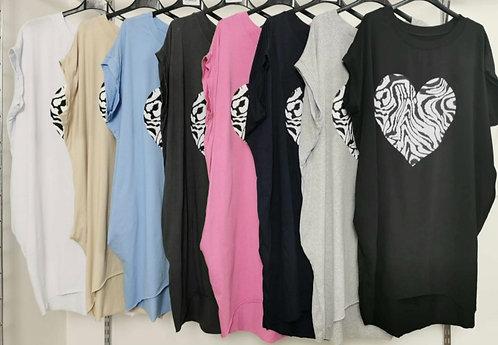 Heart pocket T 'shirt - Choice of colours