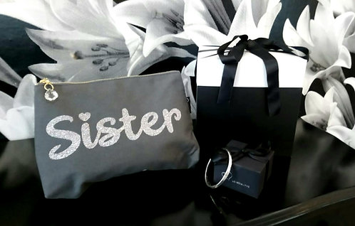 Sister gift box bundle - bag and bangle
