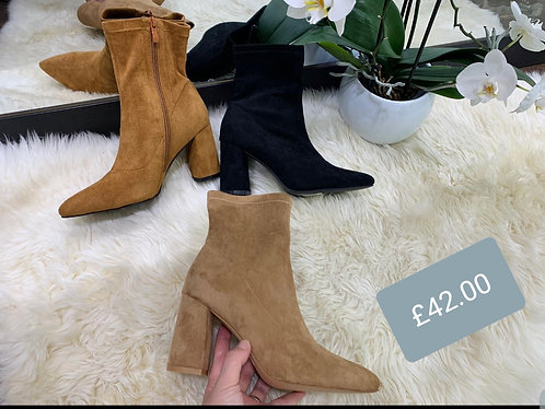 Faux suede boots - choice of colours