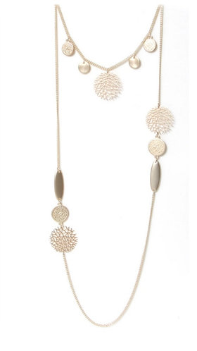 Double layer necklace - gold