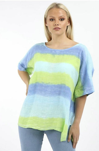 Stripped linen baggy top - Choice of colours