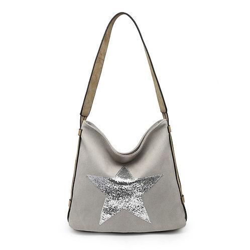 Star Bag - Pale Grey /Silver Star