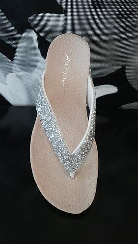 Silver Sparkle Flip Flop - chunky glitter