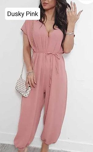 Plain harem jumpsuit - choice of colours
