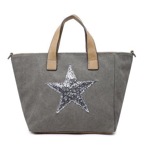 Star Bag - Grey/Silver Star
