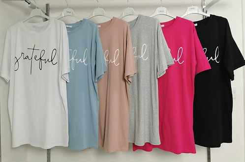 Grateful T' Shirts - Choice of colours