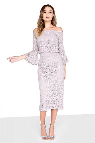 Oyster Lace Midi Dress