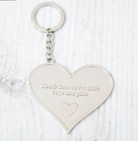 Gift boxed heart keyrings - choose your message
