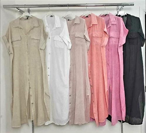 Linen Shirt Dessert- Choice of colours