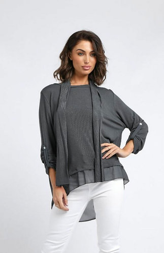 Split back scarf top - Choice of colours