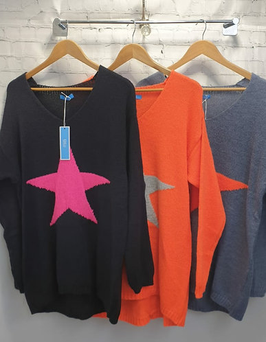 Bright star jumper - Choice of colours