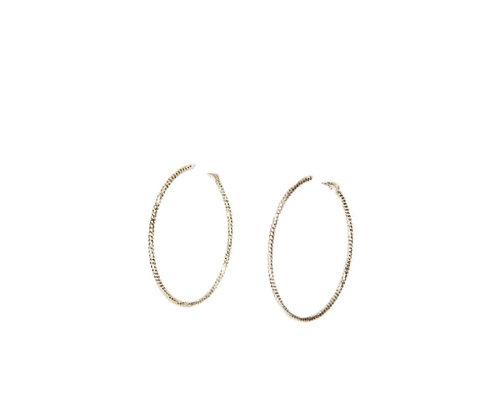 Envy hoop earings - gold or silver