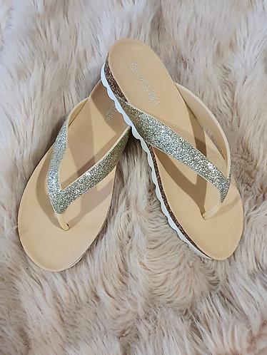 Gold Sparkle Flip Flop