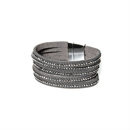 Envy grey wrap bracelet