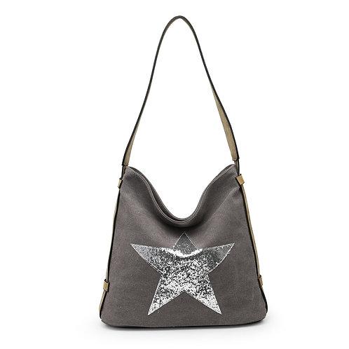 Star Bag - Dark Grey /Silver Star