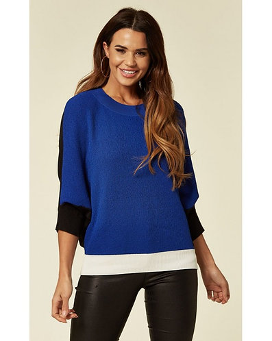 Block Colour Batwing Knitted Top