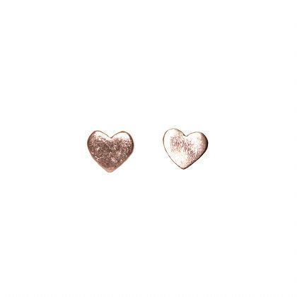 Envy Heart Stud Earings - rose gold