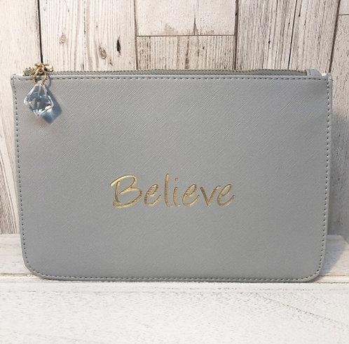 Slogan Pouch - believe