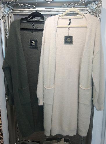 Soft cardigans - khaki or beige
