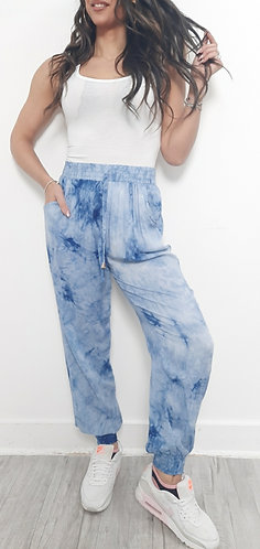 Tie dye casual trousers - choice of colours