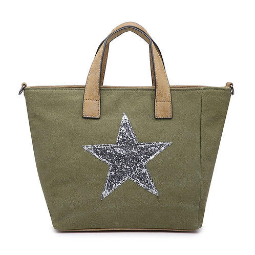 Star Bag - khaki/Silver Star