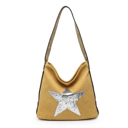 Star Bag - Mustard /Silver Star