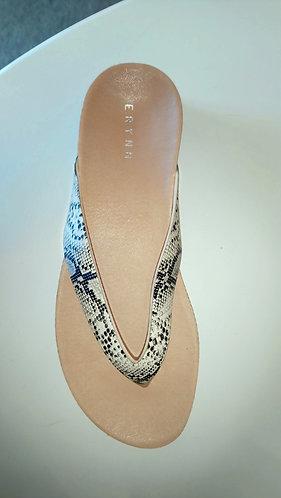 Snake print flip flops - frontview