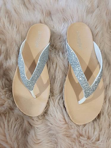 Silver Sparkle Flip Flop